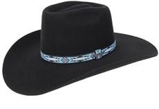 Chapéu de Peão Feltro Copa Alta Preto Texas Diamond 20990
