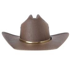 Chapéu Marrom Country com Bandinha Dourada Texas Diamond 28488