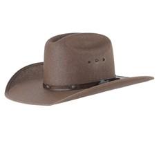 Chapéu Marrom Country com Bandinha Texas Diamond 28487