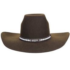 48f01a463ab5f ... Chapéu Marrom de Feltro Texas Diamond 20777