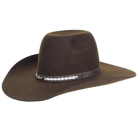 Chapéu Marrom de Feltro Texas Diamond 20777