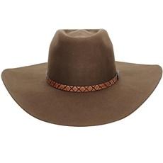 Chapéu Marrom de Feltro Texas Diamond Copa Alta 21009