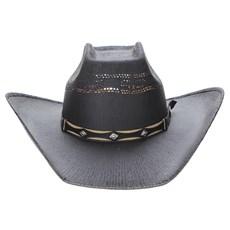 Chapéu Preto Copa Quadrada Texas Diamond 23625
