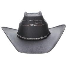 Chapéu Preto Copa Quadrada Texas Diamond 23626