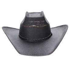 Chapéu Preto Copa Quadrada Texas Diamond 23629