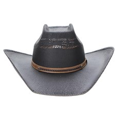 Chapéu Preto Copa Quadrada Texas Diamond 23630