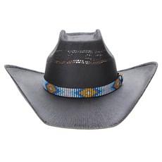 Chapéu Preto Copa Quadrada Texas Diamond 23633
