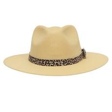 Chapéu Social Amarelo com Bandinha Estampa de Onça Texas Diamond 28946