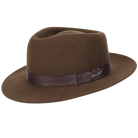 7bfe882db36e0 Chapéu Social Clássico Marrom de Feltro - Mundial 19027 - Rodeo West