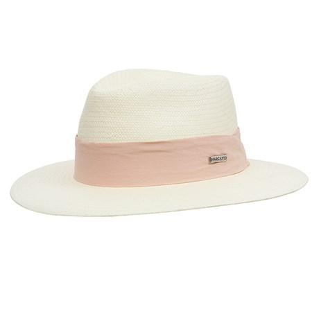 Chapéu Social com Proteção UV Aba 7cm Bandinha em Tecido Marcatto 29049
