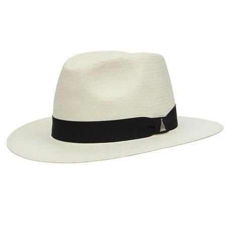 Chapéu Social de Palha Marfim com Boton Nossa Senhora Aparecida Marcatto 29050