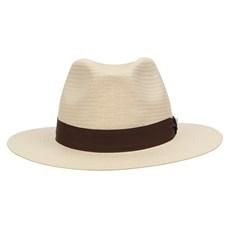 Chapéu Social de Palha Natural com Boton Nossa Senhora Aparecida Marcatto 29051