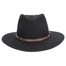 Chapéu Social Indiana Preto Texas Diamond 23024