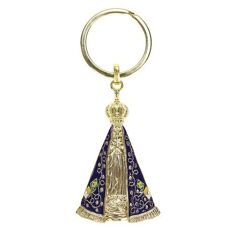 Chaveiro Dourado Nossa Senhora Aparecida - Rodeo West 14474