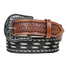 Cinto de Cowboy Couro e Nylon Preto Paul Western 24915