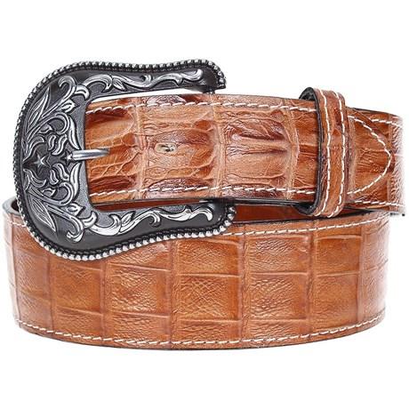 d61c9f3d6c25d Cinto em Couro Réplica Jacaré Arizona Belts 20174 - Rodeo West