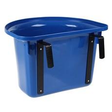 Cocho de Plástico para Cavalo M Reis Azul com Suporte 26184
