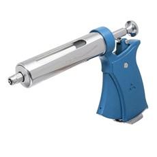 Conjunto de Pistola Veterinária 50ml Azul com Agulhas e Cilindro de Vidro Triângulo 30318