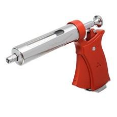 Conjunto de Pistola Veterinária 50ml Vermelha com Agulhas e Cilindro de Vidro Triângulo 30317