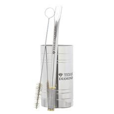 Copo para Tereré Aço Inox Bomba de Mola em Inox Texas Diamond 30098