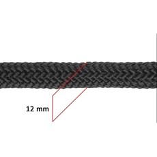 Corda Trançada 100% Polipropileno 12mm Preta - Rodeo West 17645