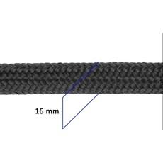 Corda Trançada 100% Polipropileno 16mm Preta - Rodeo West 17650