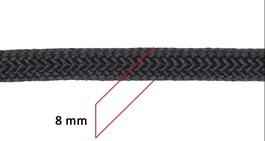 Corda Trançada 100% Polipropileno 8mm Preta - Rodeo West 17646