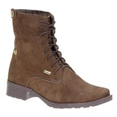 Coturno Feminino Cadarço Urbana Boots Marrom 21536