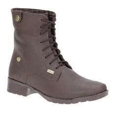Coturno Feminino Couro Marrom Urbana Boots 21540