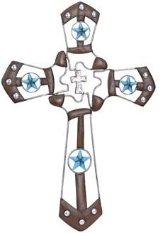 Cruz Decorativa Botas Montana West 20383