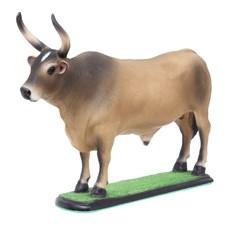 Escultura Boi Carreiro Caramelo em Resina Home Western Decor 27499