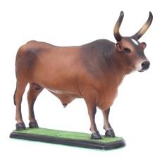 Escultura Boi Carreiro Castanho em Resina Home Western Decor 27498