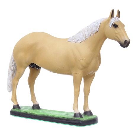 Escultura Cavalo Quarto de Milha Baio Amarilho em Resina Home Western Decor 27493