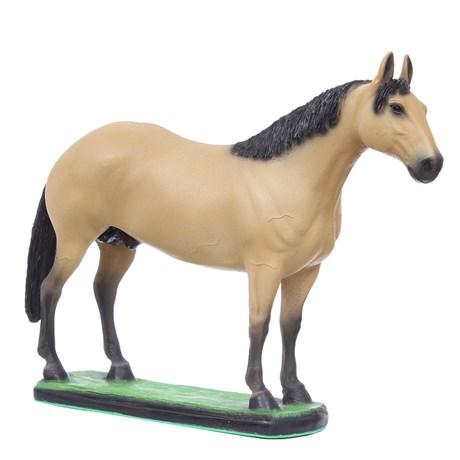 Escultura Cavalo Quarto de Milha Baio em Resina Home Western Decor 27492