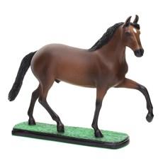 Escultura de Resina Cavalo Mangalarga Marchador Castanho Home Western Decor 25688