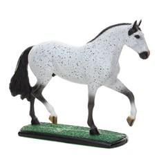 Escultura de Resina Cavalo Mangalarga Marchador Tordilho Home Western Decor 25696