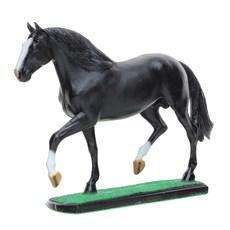 Escultura em Resina Cavalo Mangalarga Marchador Preto Home Western Decor 25695