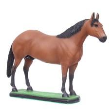 Escultura em Resina Cavalo Quarto de Milha Castanho Home Western Decor 27491