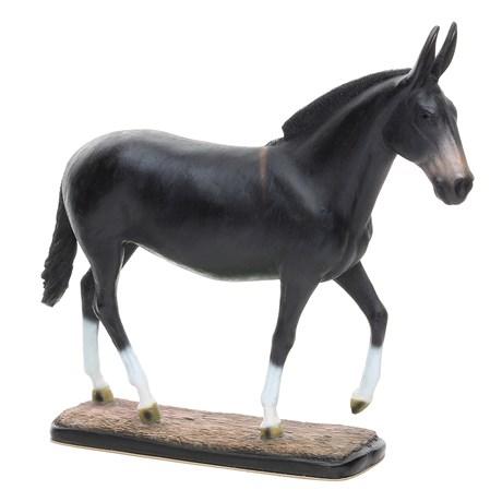 Escultura em Resina Mula Preta Home Western Decor 25692
