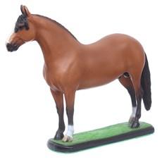 Escultura Mangalarga Marchador Castanho em Resina Home Western Decor 27495