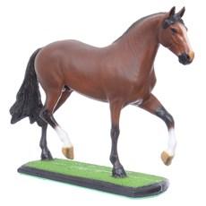 Escultura Mangalarga Marchador Castanho em Resina Home Western Decor 27496