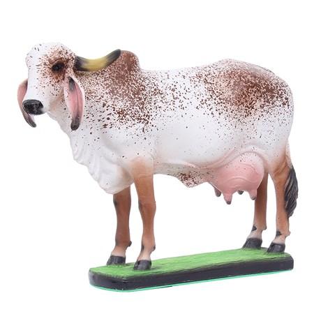 Escultura Vaca Gir em Resina Home Western Decor 27503