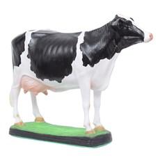 Escultura Vaca Holandesa em Resina Home Western Decor 27497