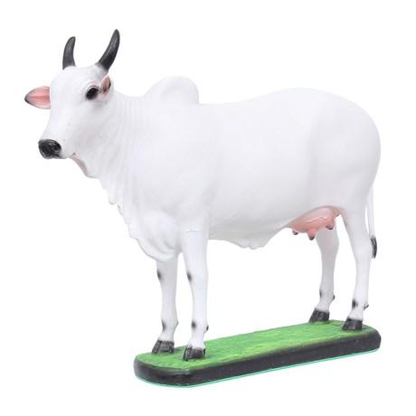 Escultura Vaca Nelore em Resina Endurecida Home Western Decor 27504