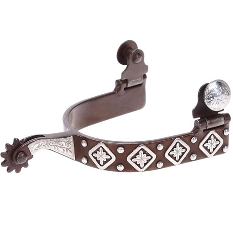 Espora Metalab 239034 Antique Diamond Floral Spurs Level 2