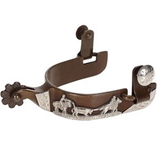 Espora Metalab 258489 Antique Team Roping Spurs Level 2