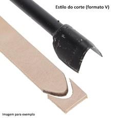 Faca V 40mm para Couro - Bronc-Steel 17672