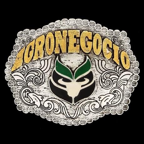 Fivela Agronegócio com Banho Dourado e Prata - Master 9958