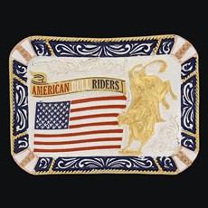 Fivela American Bull Riders com Banho Dourado Prata - Sumetal 19128