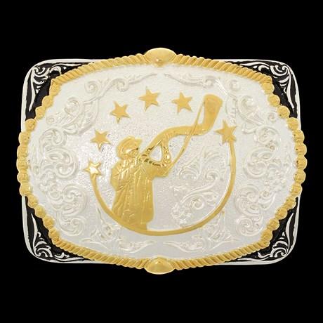 Fivela Berranteiro com Banho Dourado e Prata Sumetal 28704